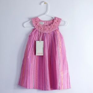 NEW Baby Girls Monsoon Pink Floral Dress 12-18M
